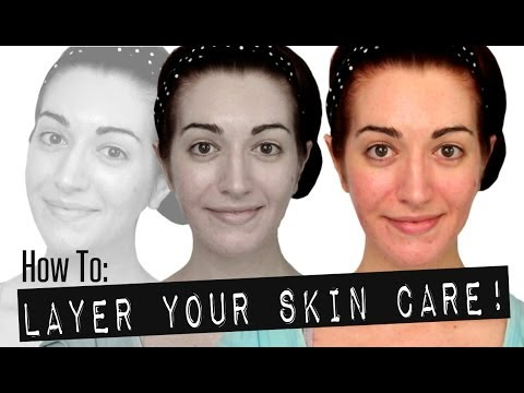 HOW TO: LAYER YOUR SKIN CARE! Layering Acne Treatments & More! Skincare Routine 2014