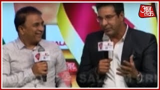 Wasim Akram And Sunil Gavaskar Talk About The Best Moments In Their Career | Salaam Cricket 2018 - AAJTAKTV