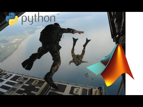 Skydiving Simulation in MATLAB and Python