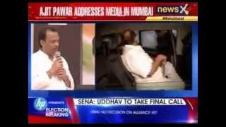 Ajit Pawar addresses media in Mumbai - NEWSXLIVE