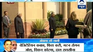Obama Visit: Obama arrives Hyderabad House I PM welcomes - ABPNEWSTV