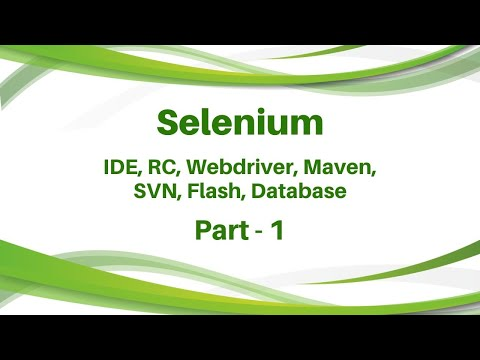 Selenium training Day 1   IDE, RC, Webdriver Maven SVN Flash Database Testing