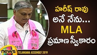 Harish Rao Takes Oath as MLA In Telangana Assembly | MLA's Swearing in Ceremony Updates | Mango News - MANGONEWS