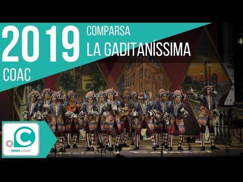 Sesión de Preliminares, la agrupación La gaditanissima actúa hoy en la modalidad de Comparsas.
