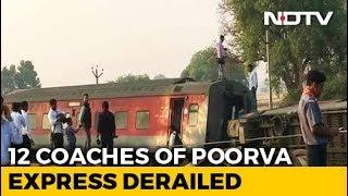 13 Injured As 12 Coaches Of Delhi-Bound Train Derail Near Kanpur - NDTV