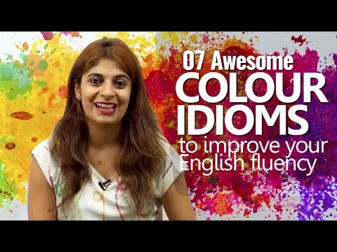 07 Colour Idioms to improve your English Fluency | English Lesson Niharika | Speak Confidently