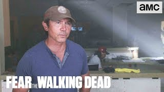 'Lou Diamond Phillips on Abandoned Hospital Scene' Making of Ep. 414 BTS | Fear the Walking Dead - AMC