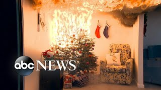 Potential hazards of Christmas light decorations - ABCNEWS