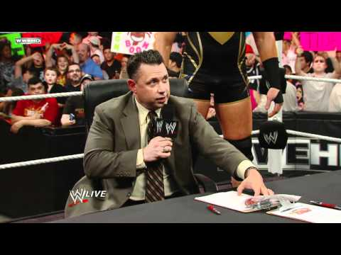 Raw: Contract signing for Jerry Lawler vs. Michael Cole