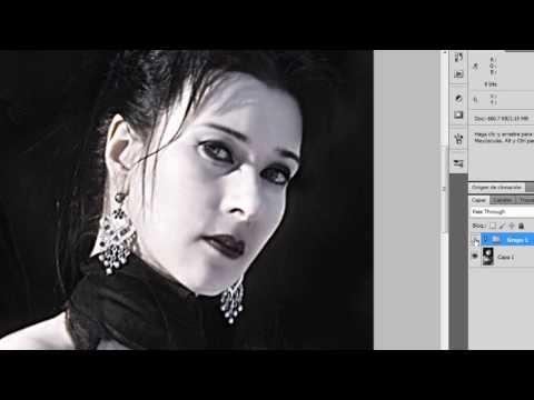 Tutorial photoshop/ retoque y nitidez en imagen manipulacion
