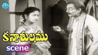 #Mahanati Savitri Kanyasulkam Movie Scene - Panthulu Secretly Talks With Lubdhavadhanlu ||Savitri - IDREAMMOVIES