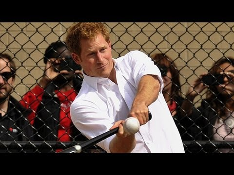 Prince Harry plays baseball in New York