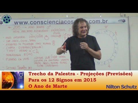 Nilton Schutz - Projeções ( Previsões ) Para os 12 Signos em 2015 - O Ano de Marte