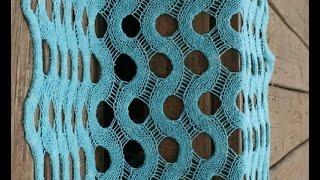 Вязание спицами. Шарф