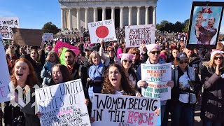 Protesters gather for a second Women's March - WASHINGTONPOST