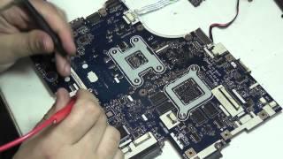 Ремонт Acer Aspire 5552G после прогревальщиков, попадание жидкости Compal LA-5911P new75