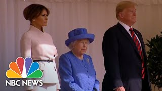 President Donald Trump And First Lady Take Tea With The Queen | NBC News - NBCNEWS