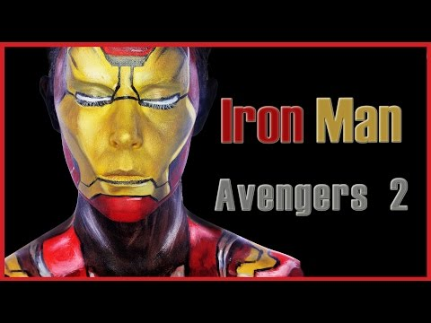 Iron Man makeup from Avengers 2