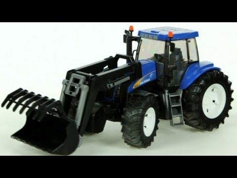 New Holland T8040 Farm Tractor with Front Loader- Muffin Songs' Oyuncakları Tanıyalım
