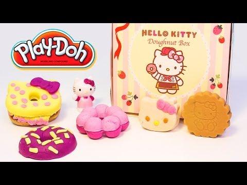 Hello Kitty Play Doh Donuts How to make Playdough Doughnuts DIY ...