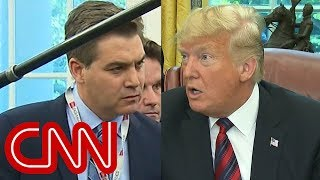 CNN's Jim Acosta presses Trump on his caravan claim - CNN
