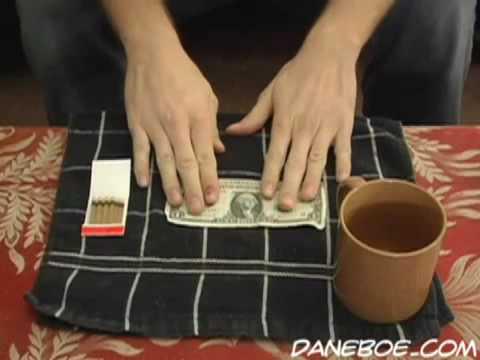 Фокус: Сжигаем $1 и превращаем в $100!