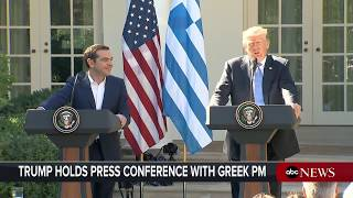 President Donald Trump, Greek Prime Minster Alexis Tsipras hold joint news conference - ABCNEWS