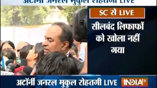 Attorney General Mukul Rohatgi addressing Media Live after Submission of Black List to SC - INDIATV