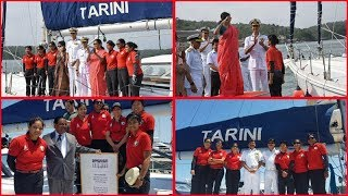 All-women Navy crew of INSV Tarini reaches Goa after circumnavigating globe - TIMESOFINDIACHANNEL