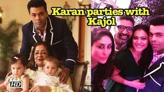 Karan Johar party with his BFFs Kajol & Rani Mukerji - IANSLIVE