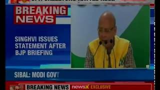 Singhvi responds to BJP's charges, says have nothing to do with Nirav Modi - NEWSXLIVE