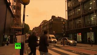 Impending doom? Skies over London turn murky orange as Storm Ophelia hits British Isles - RUSSIATODAY
