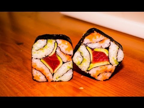 mosaic sushi roll recipe - japanese food recipe