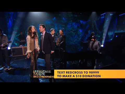 Under the Boardwalk Telethon Jimmy Fallon Bruce Springsteen Billy Joel Steven Tyler Hurricane Sandy