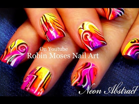Nail Art Tutorial | Neon Abstract Nails | HOT & Trendy Nail Design