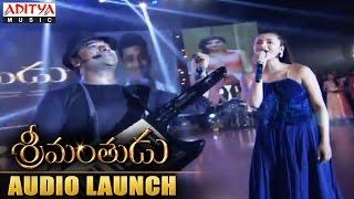 DSP & Shruti Haasan Rocking Performance At Srimanthudu Audio Launch - ADITYAMUSIC