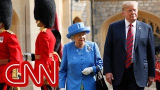 Trump criticized for his stroll with Queen - CNN