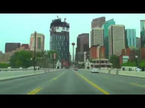 Calgary City Rush Hour Drive