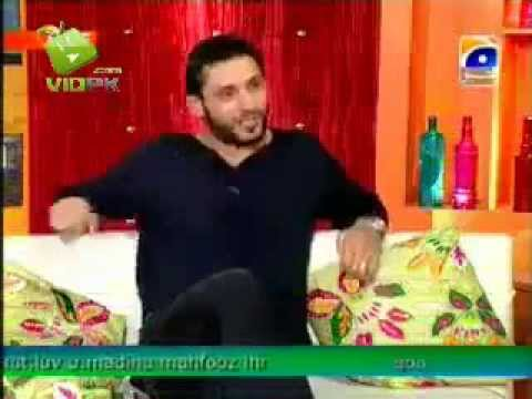 Shahid Afridi in TV show