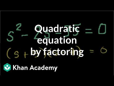 Solving Quadratic Equations by Factoring.avi