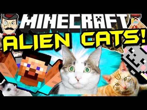 Minecraft ALIEN KITTY CAT INVASION !!