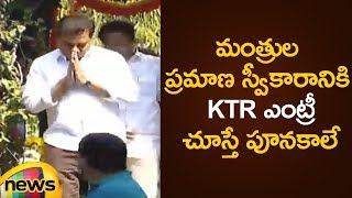 KTR Dynamic Entry At Telangana Cabinet Ministers Oath Ceremony | TRS Working President | Mango News - MANGONEWS