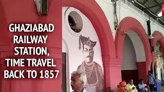 With these art murals at Ghaziabad railway station, Time travel back to 1857 - TIMESOFINDIACHANNEL