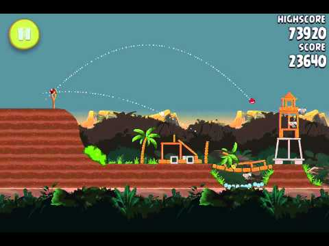 Angry Birds Rio 4-5 Level Theme Jungle Escape GamePlay Tutorial Walkthrough 3 Strars 3 stelle