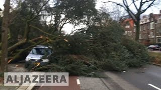 Deadly storm Friederike batters western Europe - ALJAZEERAENGLISH