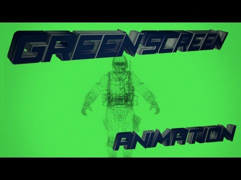 Ghost model wireframe animation # Green Screen