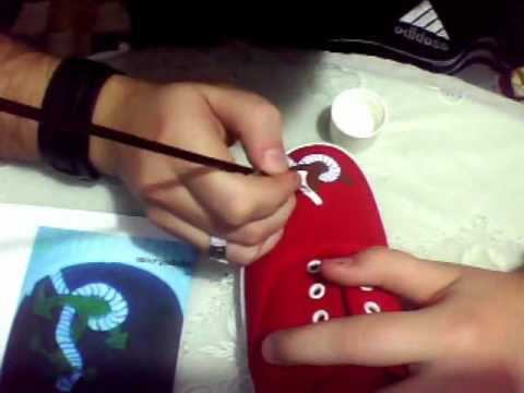 como pintar zapatillas (betty boop).wmv