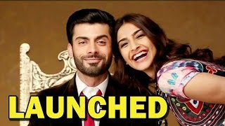 Sonam Kapoor and Fawad Khan at the launch of 'Khoobsurat' trailer - ZOOMDEKHO