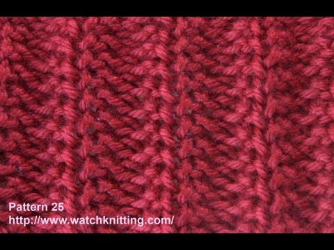 Jerseys stitch- Free Knitting Tutorials - Watch Knitting - pattern 25