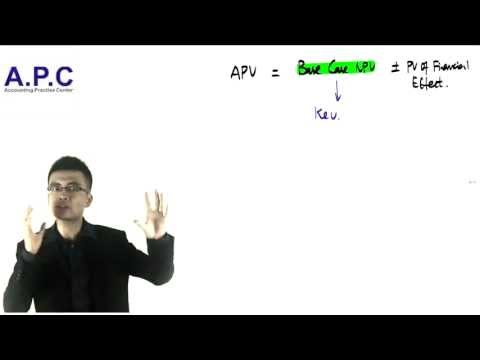 ACCA p4 advanced financial management APV(adjusted present value)